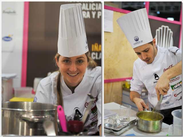 Lucía Freitas e Iñaki Muría, segunda y tercer finalistas, respectivamente