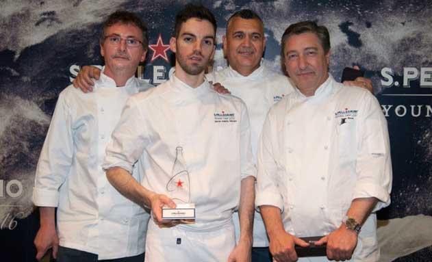 Andoni Luis Aduriz, el ganador David Andrés, Leonel Pereira y Joan Roca
