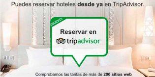 Los viajeros españoles ya pueden reservar hotel en TripAdvisor