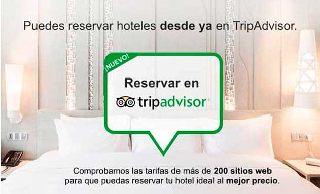 Cartel de reserva directa en TripAdvisor