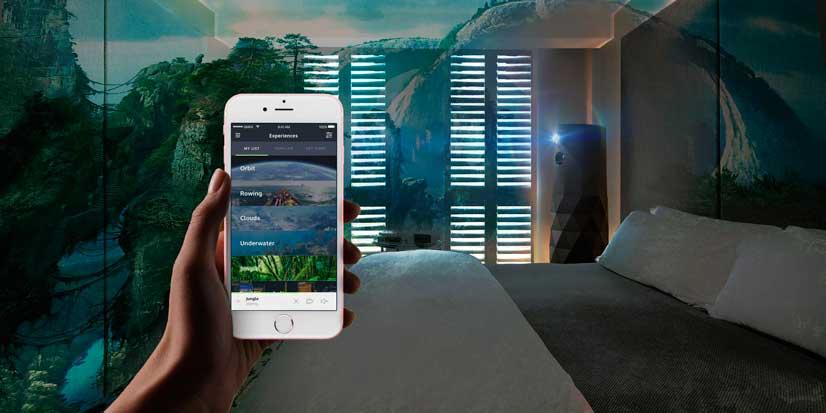 Control de la experiencia de realidad virtual  MadKameleon desde el móvil