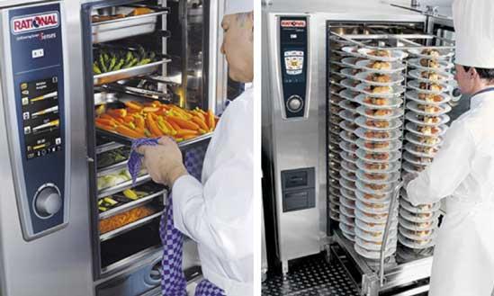 Cocineros en hornos Rational