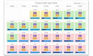 RateIntelligence incluye un calendario muy intuitivo