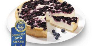 La tarta de queso con arándanos galardonada con el Superior Taste Award