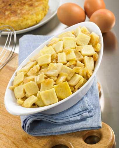 Base de tortilla de patata y cebolla pochada, de Findus Professional