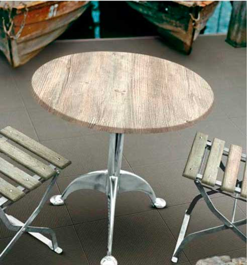 Tablero de mesa Scena Bosco, con la calidez de la madera