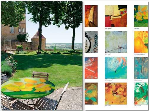 Tablero de mesa Arte y algunos de sus artísticos decorados