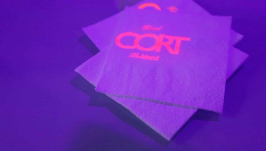 Servilletas fluorescentes Flash