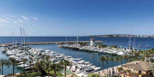 Puerto deportivo de Puerto Portals, en Mallorca