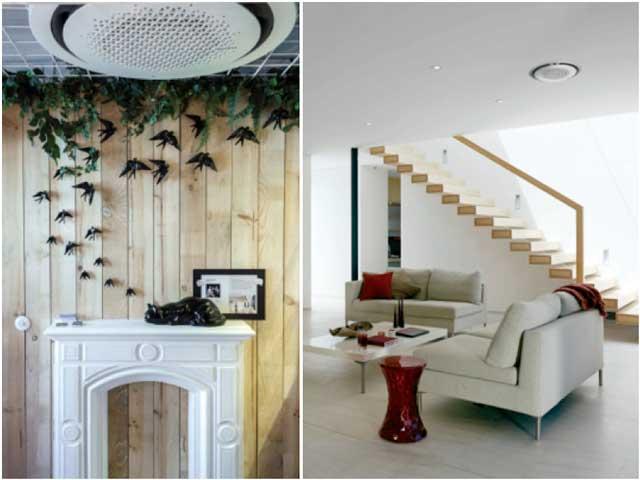Dos habitaciones con aire acondicionado Samsung 360 casette