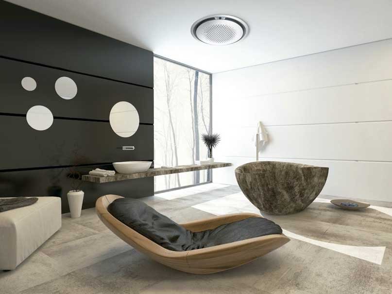 Aire acondicionado Samsung Casette 360 en una habitación