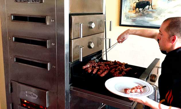 Calón abierto del horno brasa Embers Oven