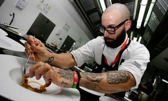 El cocinero del restaurante Atrio, que  se impuso en la final nacional de la Copa Jerez