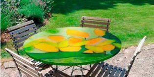 Mesas decorativas para dar color a las terrazas