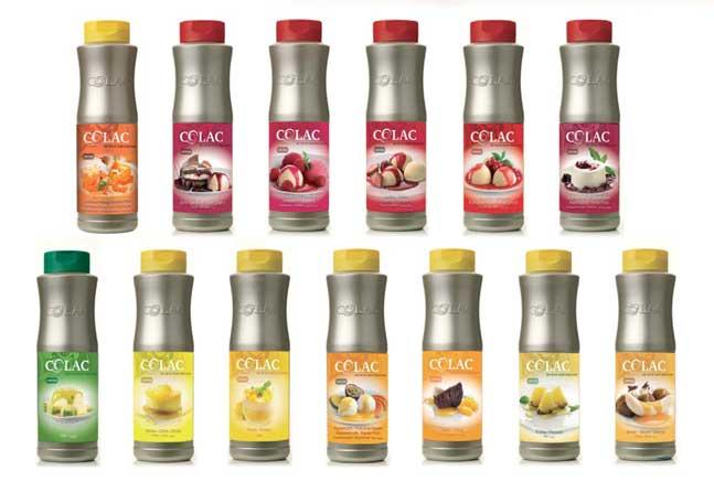 Los sabores frutales de las salsas topping Colac: