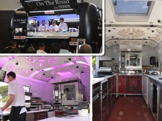 Imágenes del foodtruck donde se realizó el taller de cocina