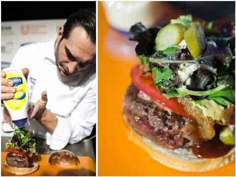 Mario Sandoval y su hamburguesa de verano, elaborada con carne de toro de lidia
