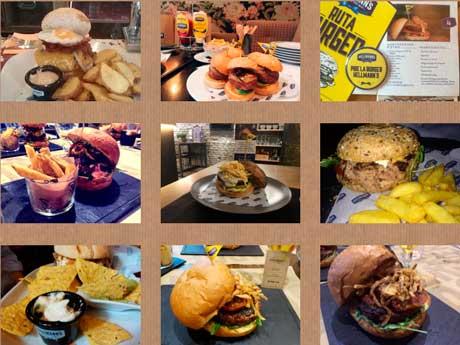 Algunas de las suculentas hamburguesas que compiten este año en la Ruta Burger