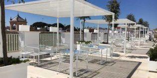 La terraza mediterránea del hotel Fernando III de Sevilla