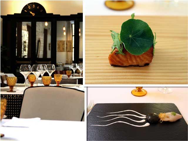 La sala y varios platos de Samy Alí en La Candela Restó