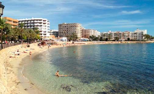 Playa de Santa Eulàlia, en Ibiza