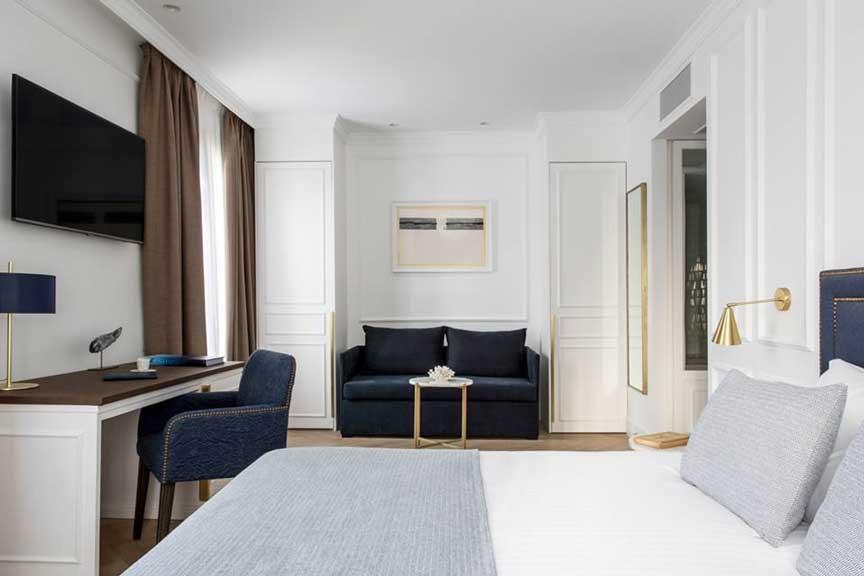 Detalle de una habitación de hotel Midmost