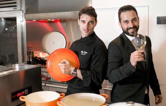 Los hermanos López, Fran y Joaquín, responsables de la gastronomía del hotel Ohla Eixample