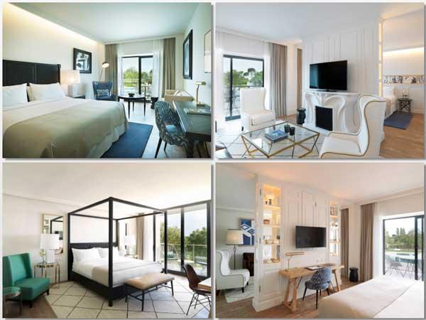 Diferentes habitaciones del hotel Camiral