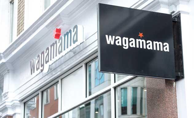 Fachada de restaurante Wagamaga