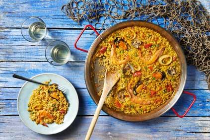 Paella de marisco de Espaella