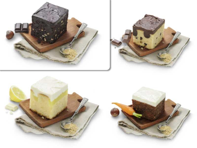 Los Cube Cakes de chocolate Diabólico y Celestial, y los de Limón y Zanahoria