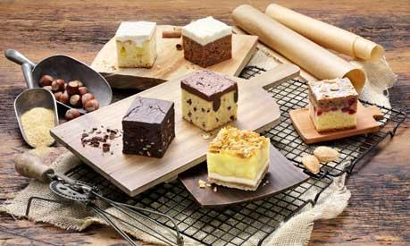 """Las seis variedades de """"Cube Cakes"""" de Erlenbacher"""