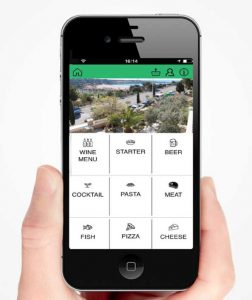 App Sensafood en el móvil