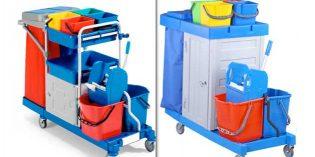 Carros de limpieza con cabina de seguridad anti-hurtos