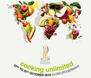 Cartel de las Olimpiadas de la Cocina de Erfurt