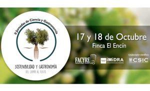 Cartel de las Jornadas de Ciencia y Gastronomía Facyre