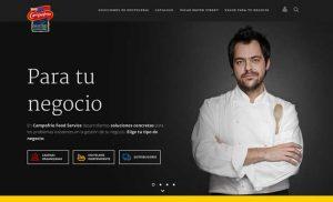 Home de la web de hostelería de Campofrío