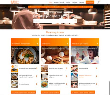 La nueva web de Unilever Food Solutions