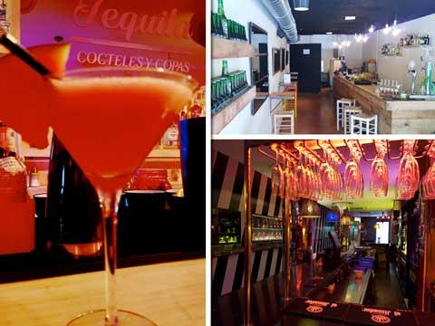 Los tres locales de Royal5 en el Raval de Barcelona: Tequila 44 (izd.), Kochi 44 (arriba) y The Lounge 44