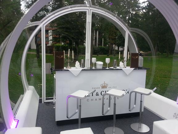 Las estructuras transparentes Tubbo tienen un diseño vanguardista y sofisticado