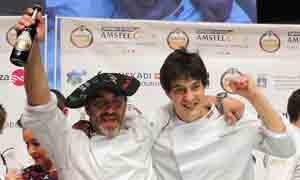 Los ganadores, Gorka Souto y Martín Merino, del bar Sardara de Hondarribia