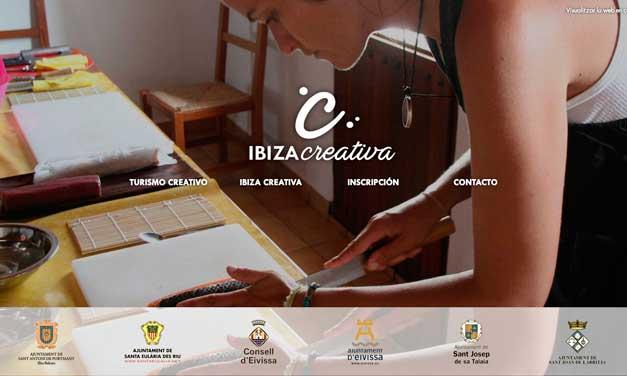 La home de la plataforma Ibiza Creativa