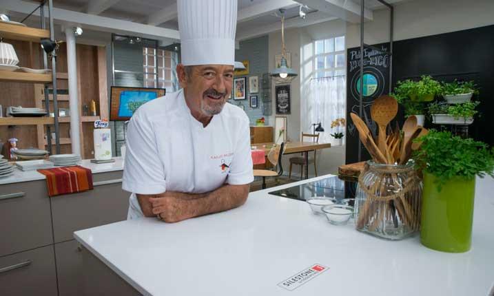 Karlos Arguiñano ya tiene su encimera en Iconic White