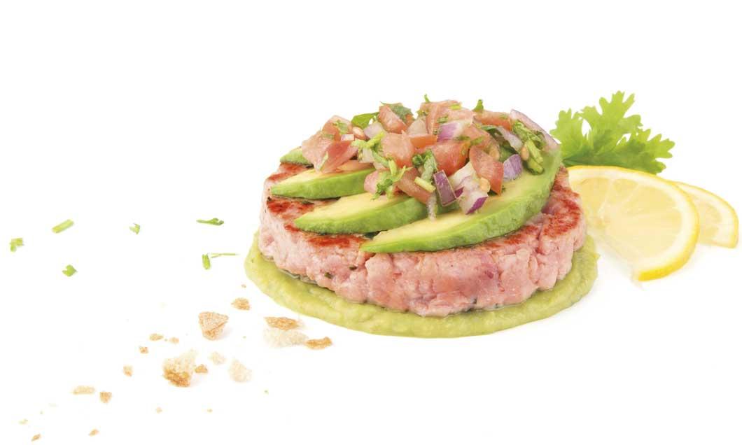 Hamburguesa de lomos de atún de Koama
