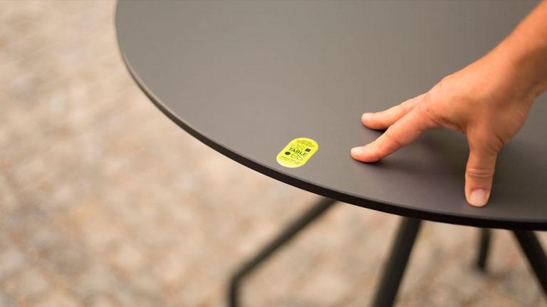 Tablero de mesa esTABLEes con sello