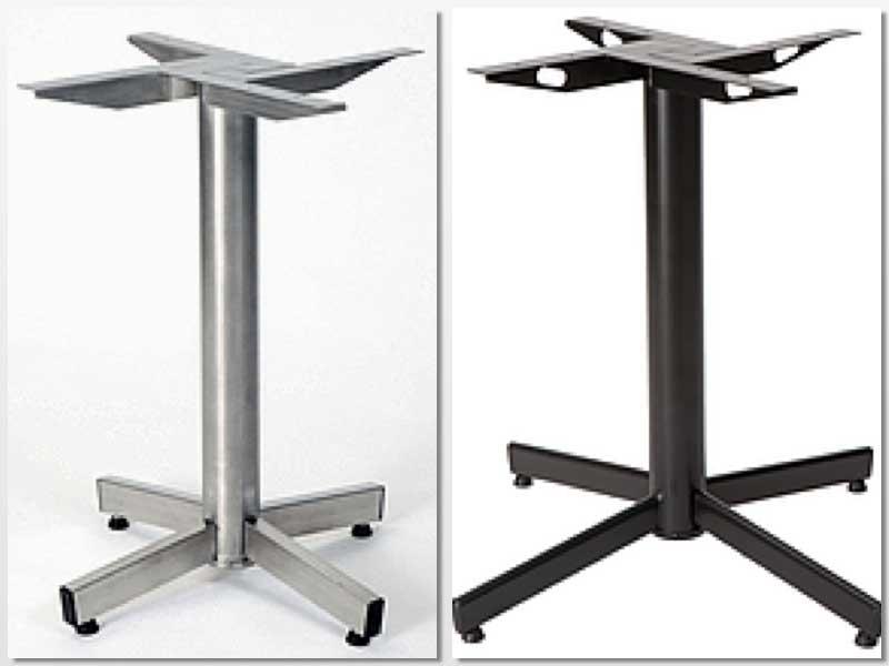 Las mesas StableTable se equilibran por sí mismas gracias a este sistema mecánico exclusivo, insertado dentro de la pata central