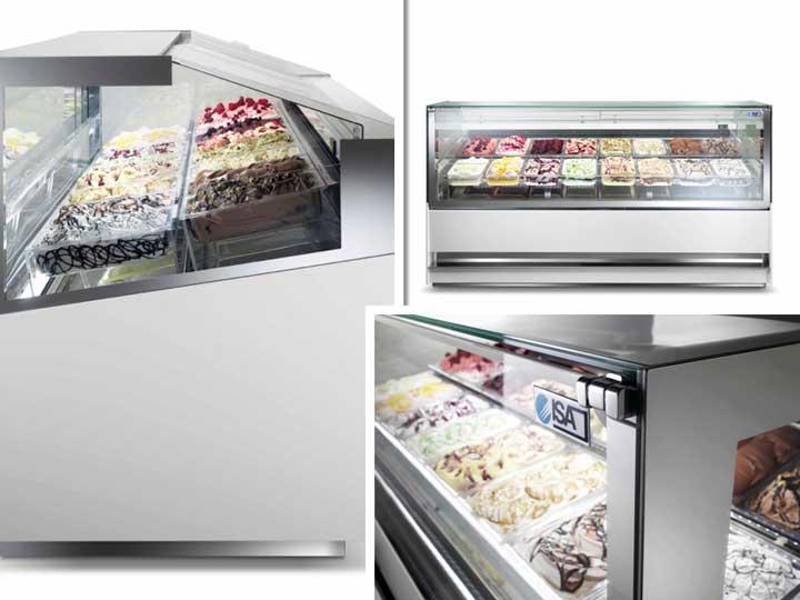 La vitrina 3DSHOW permite apreciar el helado en todas sus dimensiones