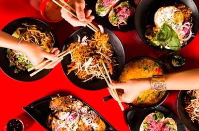 Platos asiáticos de Tuk Tuk
