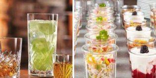 Vasos vintage en el bar… y en el buffet o restaurante