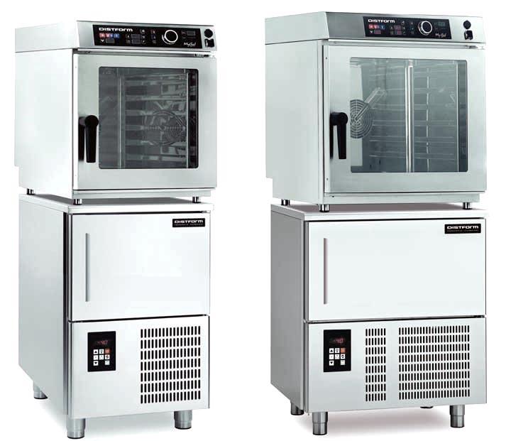 Abatidores + hornos compactos de Distform: